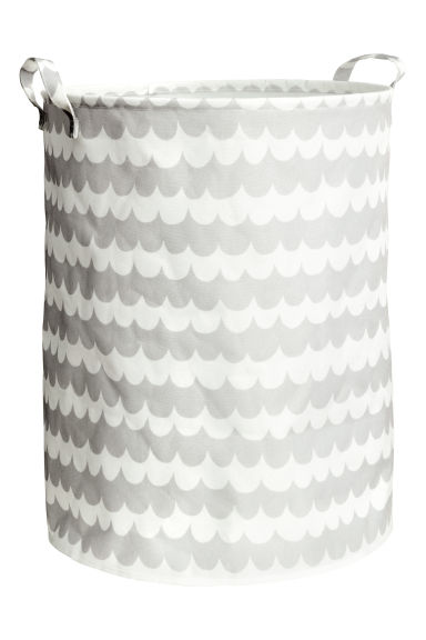 Large storage basket - Light grey/Patterned - Home All | H&M CN 1
