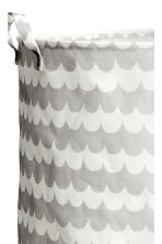 Large storage basket - Light grey/Patterned - Home All | H&M CN 2