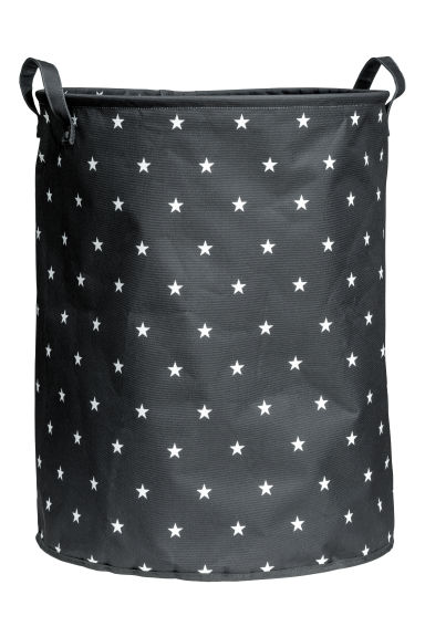 Large storage basket - Anthracite grey/Stars - Home All | H&M CN 1