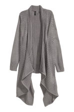 Draped cardigan - Dark grey - Ladies | H&M CN 2