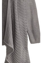Draped cardigan - Dark grey - Ladies | H&M GB 3