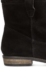 Warm-lined suede boots - Black - Ladies | H&M CN 5