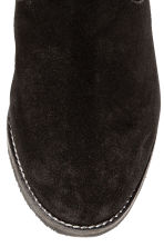 Warm-lined suede boots - Black - Ladies | H&M CN 4