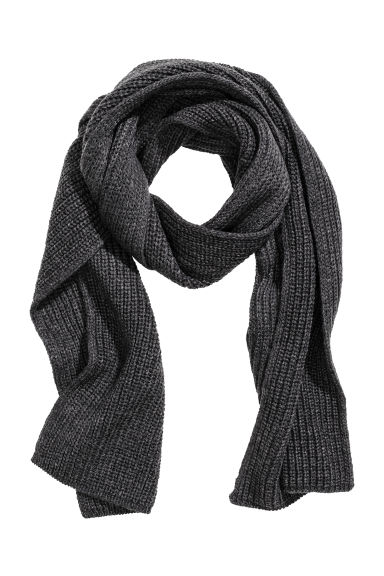 Ribbed scarf - Anthracite grey - Men | H&M 1