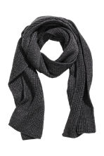 Ribbed scarf - Anthracite grey - Men | H&M CN 1