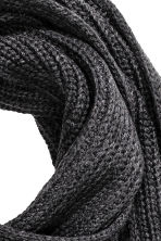 Ribbed scarf - Anthracite grey - Men | H&M CN 3