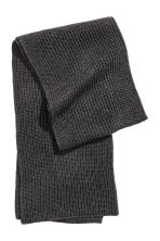 Ribbed scarf - Anthracite grey - Men | H&M CN 2