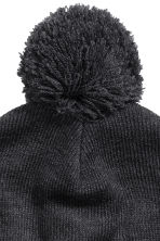 Knitted hat - Black marl - Men | H&M CN 3