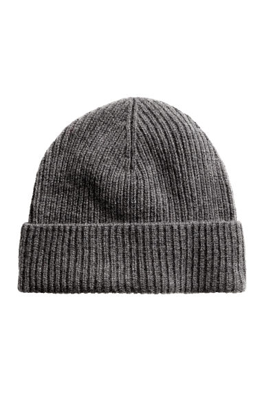 Wool-blend hat - Dark grey marl - Men | H&M CN 1