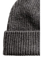 Wool-blend hat - Dark grey marl - Men | H&M CN 2