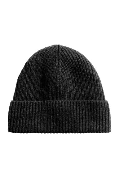 Wool-blend hat - Black - Men | H&M