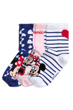 3-pack socks - Light pink/Minnie Mouse - Kids | H&M CN 2