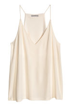 V-neck top - Natural white - Ladies | H&M CN 1