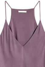 V-neck top - Dark purple - Ladies | H&M CN 3