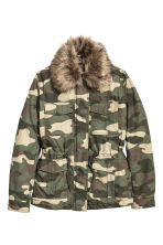Parka - Khaki green/Patterned -  | H&M CN 1