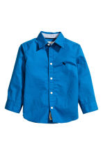 Cotton shirt - Cornflower blue - Kids | H&M CN 2