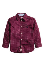 Cotton shirt - Burgundy/Spotted - Kids | H&M CN 2