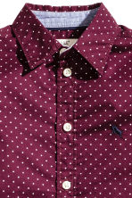Cotton shirt - Burgundy/Spotted - Kids | H&M CN 3