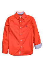Cotton shirt - Light red -  | H&M CN 3