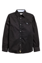 Cotton shirt - Black - Kids | H&M CN 2