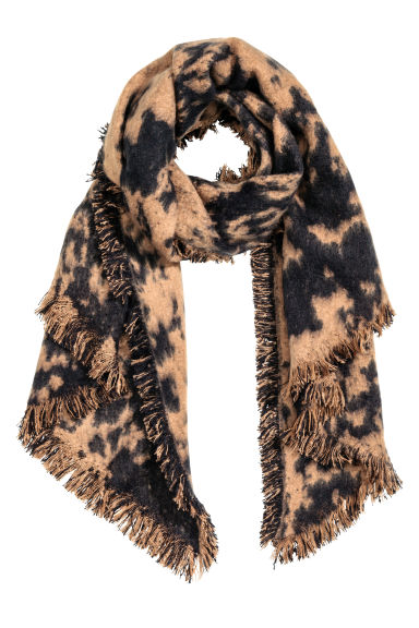 Patterned scarf - Beige/Patterned - Ladies | H&M CN 1