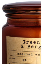 Scented candle in a glass jar - Dark orange/Green Tea-Bergamot - Home All | H&M CA 3