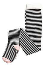 2-pack tights - Black/Heart - Kids | H&M CN 3