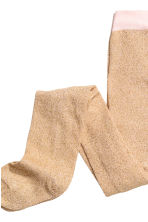 2-pack tights - Natural white/Gold - Kids | H&M CN 4