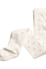 2-pack tights - Natural white/Gold - Kids | H&M CN 3