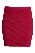 Draped skirt - Red - Ladies | H&M CN 3