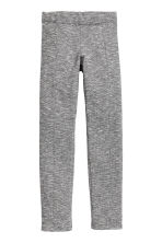 Sturdy jersey leggings - Black/White - Kids | H&M CN 2