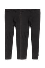 2-pack leggings - Black - Kids | H&M CN 2