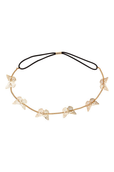 Hairband with butterflies - Gold - Kids | H&M CN 1