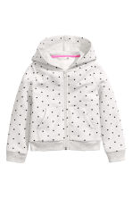Hooded jacket - Light grey/Spotted -  | H&M CN 2