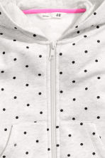 Hooded jacket - Light grey/Spotted -  | H&M CN 3
