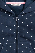 Hooded jacket - Dark blue/Spotted - Kids | H&M CN 3