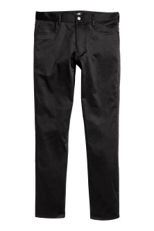 Satin trousers Slim fit