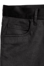 Pantaloni in satin Slim fit - Nero - UOMO | H&M IT 4