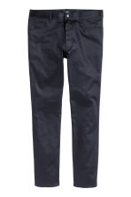 Satin trousers Slim fit - Dark blue - Men | H&M CN 2