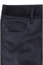 Satin trousers Slim fit - Dark blue - Men | H&M CN 3