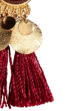 Earrings with tassels - Burgundy - Ladies | H&M GB 2