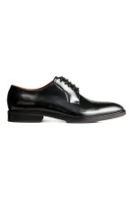 Leather Derby shoes - Black -  | H&M CN 2