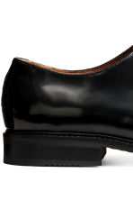 Leather Derby shoes - Black -  | H&M CN 5