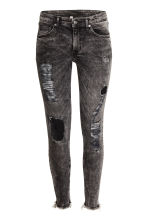 Skinny Ankle Trashed Jeans - Black washed out - Ladies | H&M CN 2