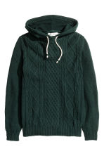 Hooded jumper - Dark green - Men | H&M CN 2