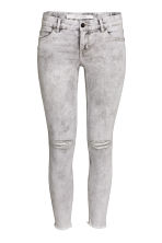 Super Skinny Low Ankle Jeans - 黑色/Acid - 女士 | H&M CN 2