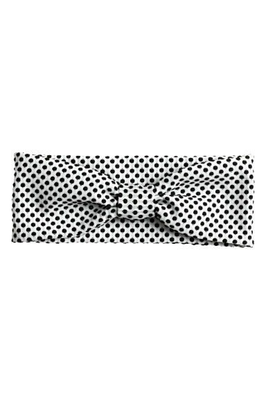 Hairband with a knot - White/Spotted - Ladies | H&M CN 1