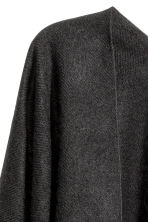 Woven poncho with fringes - Black - Ladies | H&M 2