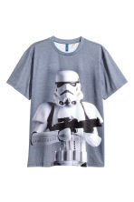 Printed T-shirt - Grey/Star Wars - Men | H&M CN 2