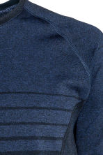 Seamless running top - Dark blue marl - Men | H&M CN 3
